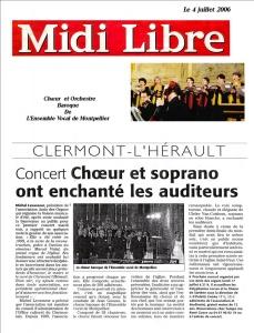 Le choeur Baroque à Clermont l'Hérault